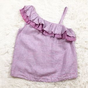 Holding Horses pink one shoulder top size XS